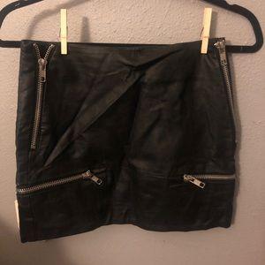 Nasty gal mini leather skirt